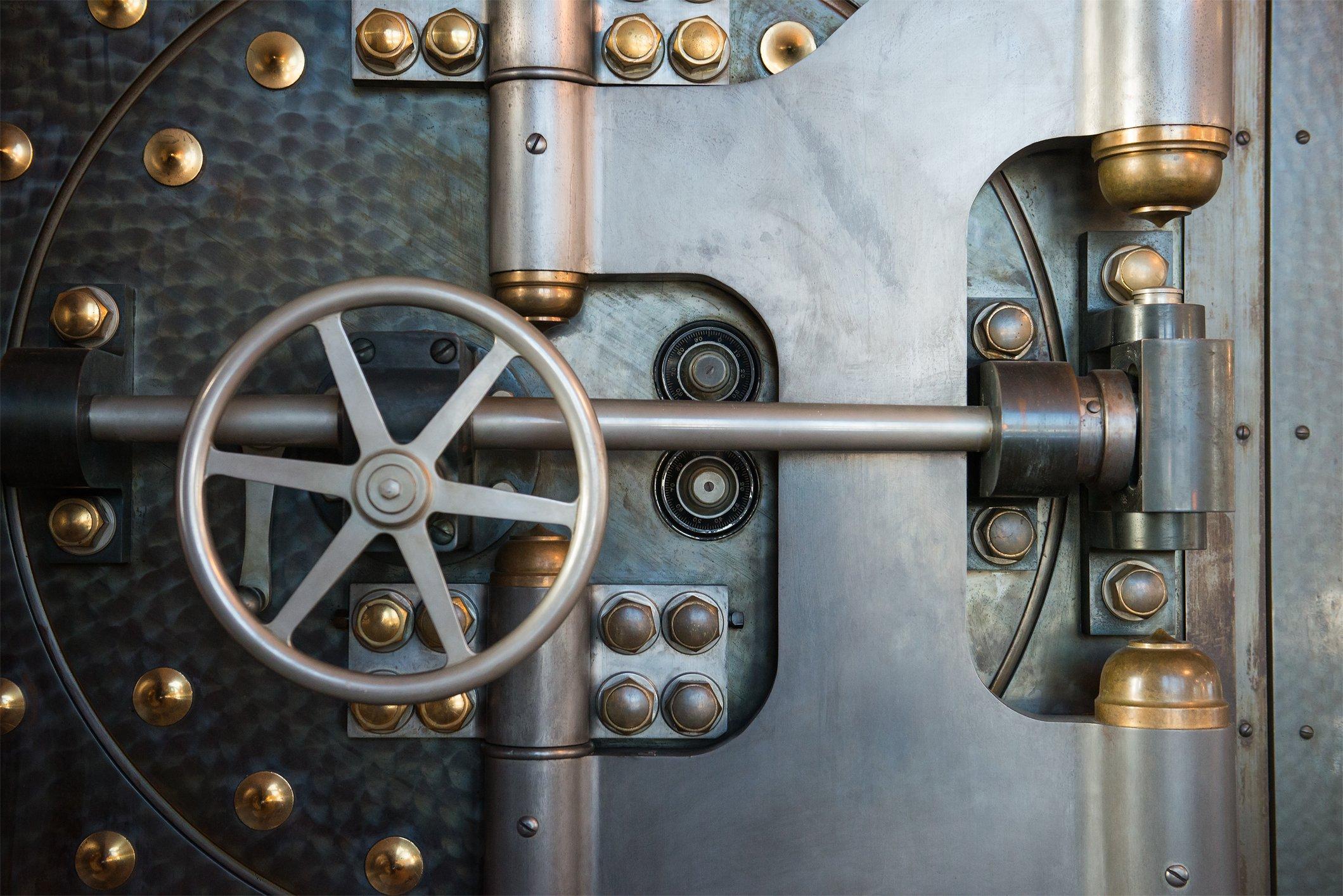 vintage-bank-vault-safe-industrial-background-50233841